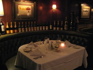 A table in the dining room of Nieuport 17 restaurant