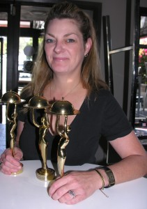 Debra Sims THREE TIME WINNER FOODIE AWARD at Maro Wood Grill,